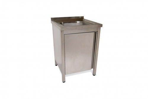 Mueble de lavado con puerta